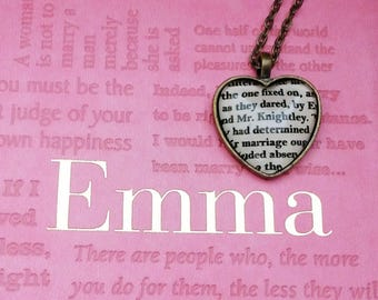 Emma Mr. Knightley heart necklace in (or Key Ring) Jane Austen