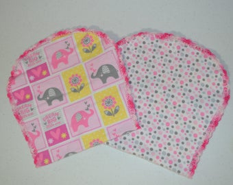 Dream Big Pink Burp Rag Set