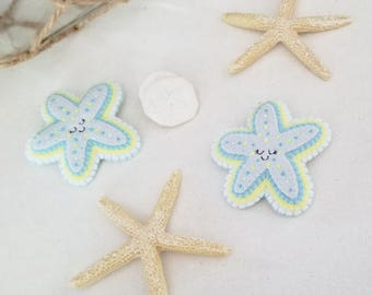 Relaxing Starfish Brooch or Keychain