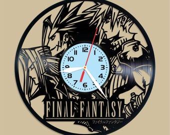 Final Fantasy vinyl clock Final Fantasy decor Final Fantasywall poster Final Fantasy  Final Fantasy fan gift Final Fantasy art