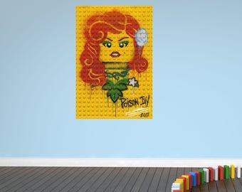 Poison ivy lego bricks wall sticker decal