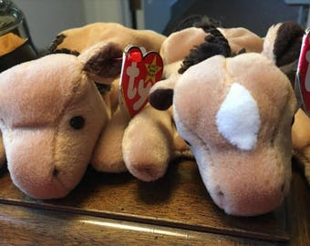 2 Derby TY Beanie Babies - Same Name, different look - RETIRED