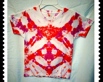 Girl's size 6/8, S/CH/P, tie dye, T-shirt, Diamonds are a girls best friend 100% cotton.