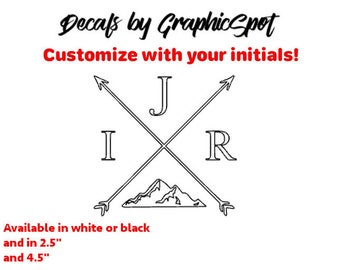 Tribal Arrow Adventure Decal! Customize With Your Initials!