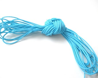Polyester yarn - cord pacifier 1.5 mm-Turquoise