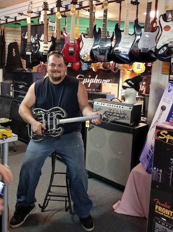 Magdon Music Scrap Metal Guitar.