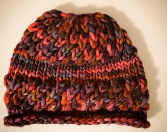 Twist and Turn Darn Knit Hat