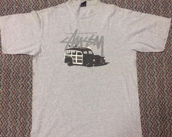 Vintage STUSSY tshirt..size large..nice condition