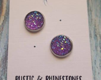 Purple Sparkle studs
