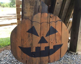Wooden Jack o lantern