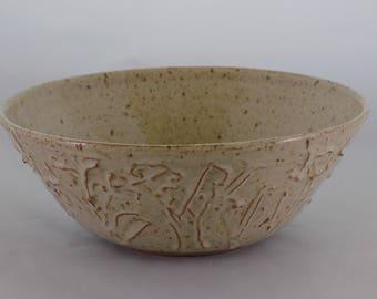 Ceramic Serving Bowl-Slip Trailing-Small Serving Bowl-Ceramic Bowl-Decorative Bowl-Cottonwood Creek-Elizabeth Gebert-Home Decor