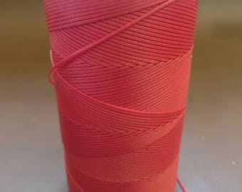 Red Ritza 25 waxed Tiger Thread, 1mm for Leather by Julius Koch