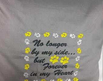 Decorative Pillow, Pet Lover's, Machine Embroidered, Memorial for Pet