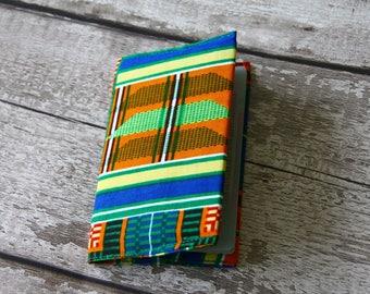 African fabric passport cover, African print passport holder, gift for traveler, road trip gift, second wedding anniversary, passport wallet