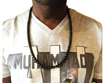 Necklace man 1 glass beads
