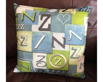 Shabby Look Initial Z Throw Pillow