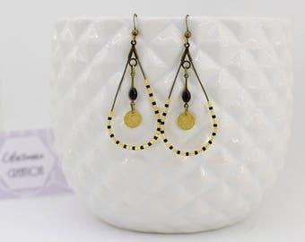Earrings drops and miyuki beads
