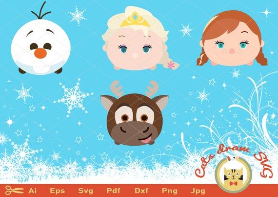 Tsum Tsum Svg Frozen Svg Elsa Svg Olaf Svg Ana Svg