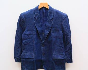 Vintage WRANGLER Famous Fashions America's Greatest Clothiers Blue Buttondown Jacket
