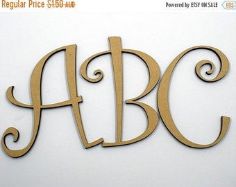 20% OFF 5cm MDF Wood Wooden Letters 3mm Thick CUR