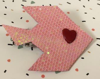 Glitter Strip small fish pink