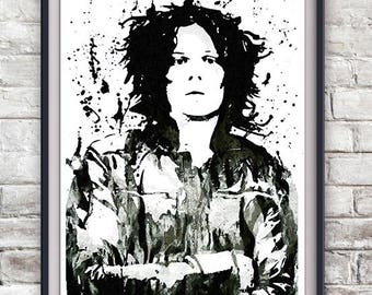 Jack White Illustration Print - The White Stripes, The Dead Weather, Third Man Records, Music