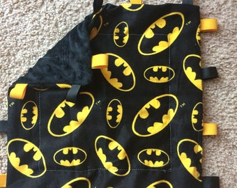 Batman Minky Tag Blanket