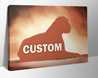 Custom pet portrait print on canvas