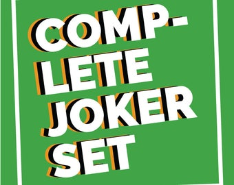 Joker Temporary Tattoo Temp Tat Cosplay Costume Halloween Complete Set Suicide Squad HAHA Mouth Robin Knife Damaged