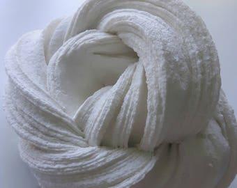 White Buttercream Frosting Slime