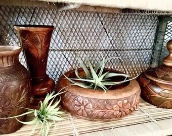 Wooden bowl | Carving bowl | Serving bowl | Fruit bowl