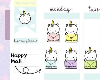 Petitcorn-Dearmyplanner-Happy Mail Petitcorn (dm17-016)