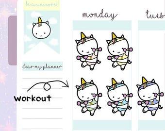 Petitcorn-Dearmyplanner-Workout Petitcorn (dm17-012)