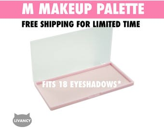 M Makeup Palette Pink - Magnetic - Fits 18 Eyeshadows*