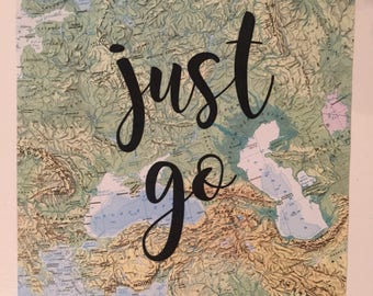 Just Go Map Page Art