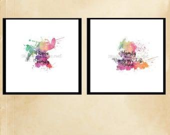 Ohana Means Family Printable Splatter Paint Art
