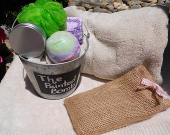 Bath Bomb Gift Set, The Drunken Unicorn Small Set, Sugar Scrub Gift Set, Soap Gift Set, Handmade Gift Bag, Bath Gift Set