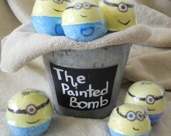 Bath Bomb Gift Set 3// Children Bath Gift Set // Bath Fizzy // Spa treatment // Children Safe Bath // Banana Scented