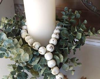 BEST SELLER - Farmhouse Beads | Farmhouse Decor | Home Decor Beads | Wood Beads | Shabby Chic | Chippy Farmhouse | Farmhouse Gifts