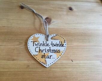 Hand Made Wooden Christmas Heart