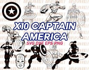 captain America svg, clipart, avengers svg, eps, png, dxf, stencils, decal, vinyl, silhouette, vector, printable, image, cut files, sizzix