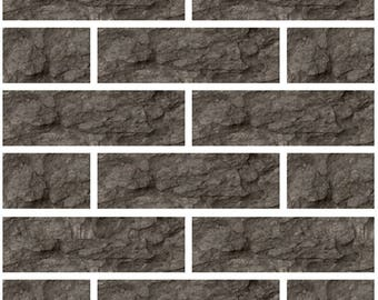 Pack of 10 grey subway mosaic tile stickers transfers, with added gloss affect, just peel and stick, bathroom kitchen
