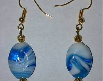 Glass Swirl Bead Earrings