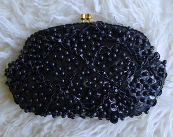 Black Jeweled Purse