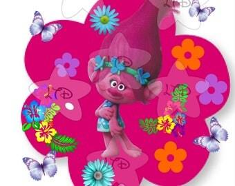 Trolls Poppy Birthday Girl Digital Image,Diy