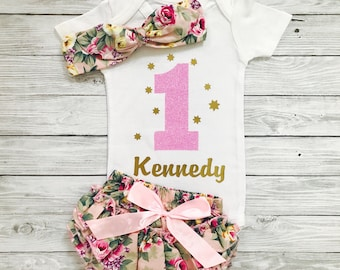 First Birthday Girl, First Birthday Outfit Girl, First Birthday Outfits, Baby Girl First Birthday, First Birthday Outfit Girl Floral