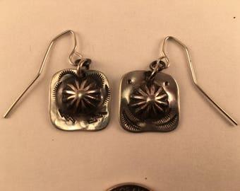 Sterling Silver Concha Earrings