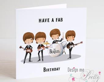 The Beatles Birthday Card - Fab Birthday