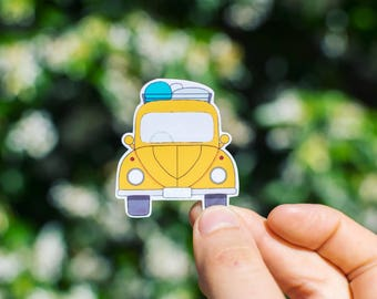 Yellow Car Sticker - waterproof & removable