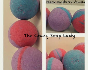 Black Raspberry Vanilla Bath Bombs